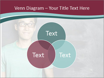 Closeup portrait of a happy Asian/Chinese man looking to left PowerPoint Template - Slide 33