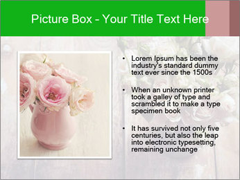 Bouquet of roses in metal pot on the wooden background PowerPoint Templates - Slide 13