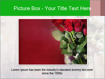 Bouquet of roses in metal pot on the wooden background PowerPoint Templates - Slide 15
