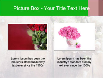 Bouquet of roses in metal pot on the wooden background PowerPoint Templates - Slide 18