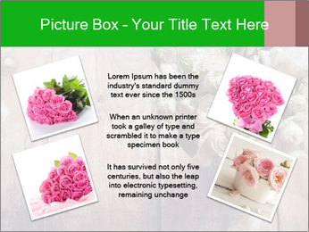Bouquet of roses in metal pot on the wooden background PowerPoint Templates - Slide 24