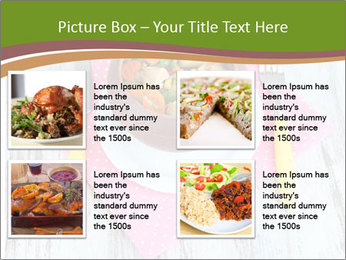 Baked mixed vegetable with chicken breast in pot PowerPoint Template - Slide 14