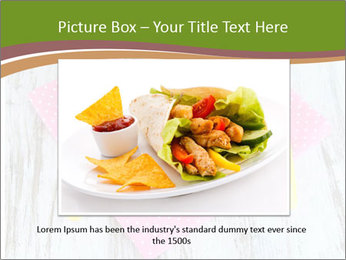 Baked mixed vegetable with chicken breast in pot PowerPoint Template - Slide 15