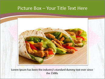 Baked mixed vegetable with chicken breast in pot PowerPoint Template - Slide 16