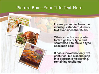 Baked mixed vegetable with chicken breast in pot PowerPoint Template - Slide 17