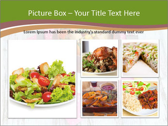 Baked mixed vegetable with chicken breast in pot PowerPoint Template - Slide 19