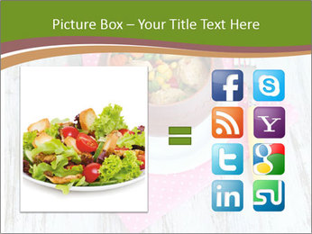 Baked mixed vegetable with chicken breast in pot PowerPoint Template - Slide 21