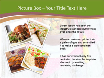 Baked mixed vegetable with chicken breast in pot PowerPoint Template - Slide 23