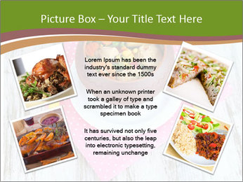 Baked mixed vegetable with chicken breast in pot PowerPoint Template - Slide 24