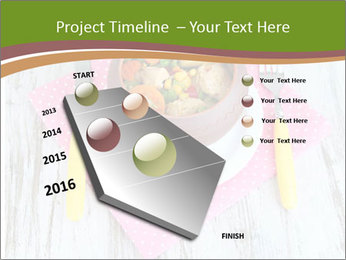 Baked mixed vegetable with chicken breast in pot PowerPoint Template - Slide 26