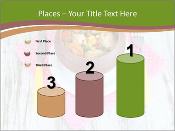 Baked mixed vegetable with chicken breast in pot PowerPoint Template - Slide 65