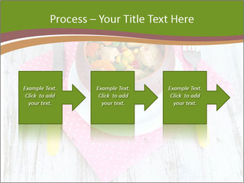 Baked mixed vegetable with chicken breast in pot PowerPoint Template - Slide 88
