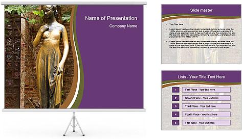 Statue of juliet in verona PowerPoint Template