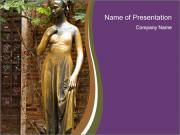 Statue of juliet in verona PowerPoint Template