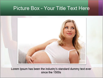 Pregnant woman touching her belly with hands PowerPoint Template - Slide 16