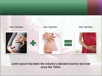 Pregnant woman touching her belly with hands PowerPoint Templates - Slide 22