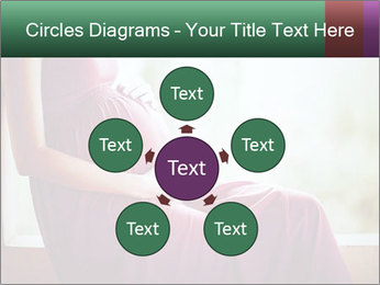 Pregnant woman touching her belly with hands PowerPoint Templates - Slide 78