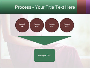 Pregnant woman touching her belly with hands PowerPoint Templates - Slide 93