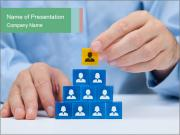 Human resources and corporate hierarchy concept PowerPoint Templates