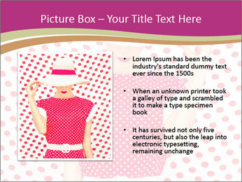 Fashion Polka Dots Woman PowerPoint Template - Slide 13