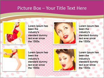 Fashion Polka Dots Woman PowerPoint Template - Slide 14