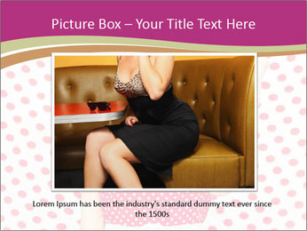 Fashion Polka Dots Woman PowerPoint Template - Slide 16