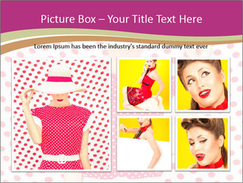 Fashion Polka Dots Woman PowerPoint Template - Slide 19