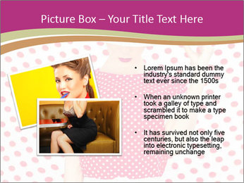 Fashion Polka Dots Woman PowerPoint Template - Slide 20