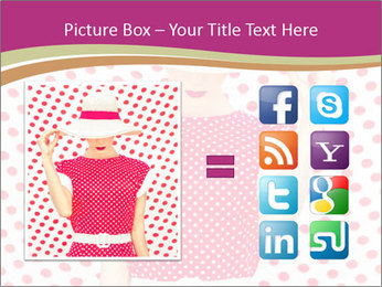 Fashion Polka Dots Woman PowerPoint Template - Slide 21