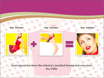 Fashion Polka Dots Woman PowerPoint Template - Slide 22