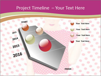Fashion Polka Dots Woman PowerPoint Template - Slide 26