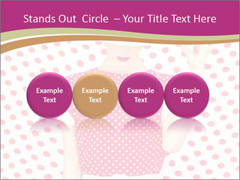 Fashion Polka Dots Woman PowerPoint Template - Slide 76