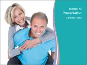 Mature Man Piggybacking His Happy Wife PowerPoint Template