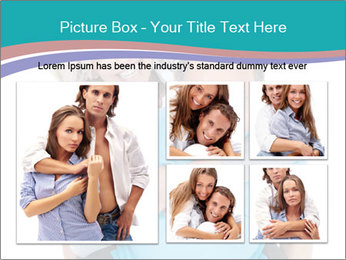 Mature Man Piggybacking His Happy Wife PowerPoint Templates - Slide 19