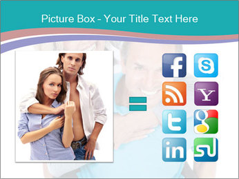 Mature Man Piggybacking His Happy Wife PowerPoint Templates - Slide 21