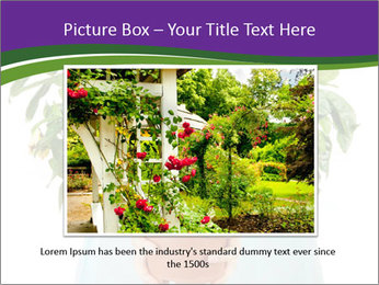 Beautiful flower in pot in hands of girl PowerPoint Template - Slide 15