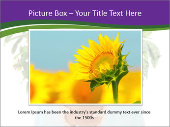 Beautiful flower in pot in hands of girl PowerPoint Template - Slide 16
