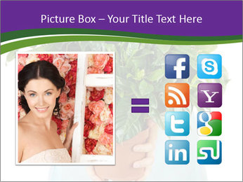 Beautiful flower in pot in hands of girl PowerPoint Template - Slide 21