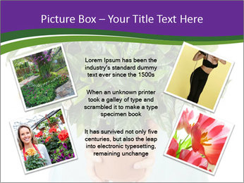 Beautiful flower in pot in hands of girl PowerPoint Template - Slide 24