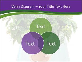 Beautiful flower in pot in hands of girl PowerPoint Template - Slide 33