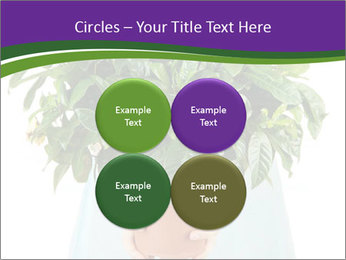 Beautiful flower in pot in hands of girl PowerPoint Template - Slide 38