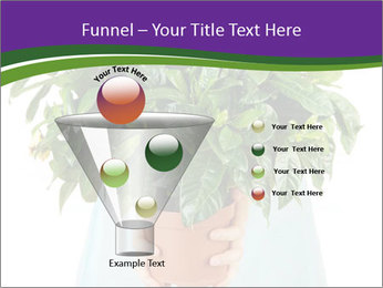 Beautiful flower in pot in hands of girl PowerPoint Template - Slide 63