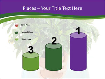 Beautiful flower in pot in hands of girl PowerPoint Templates - Slide 65