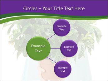 Beautiful flower in pot in hands of girl PowerPoint Template - Slide 79