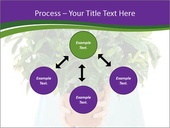 Beautiful flower in pot in hands of girl PowerPoint Templates - Slide 91