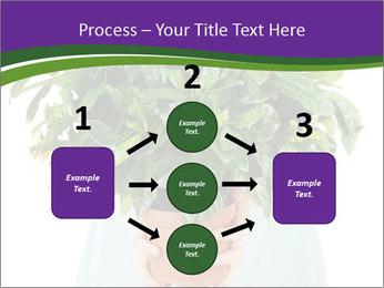 Beautiful flower in pot in hands of girl PowerPoint Template - Slide 92