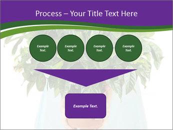 Beautiful flower in pot in hands of girl PowerPoint Templates - Slide 93
