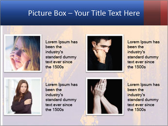 Sad girl PowerPoint Templates - Slide 14