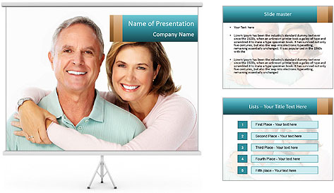 Happy senior couple in love PowerPoint Template
