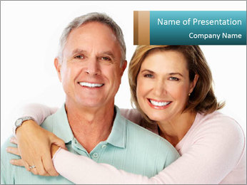 Happy senior couple in love PowerPoint Template - Slide 1